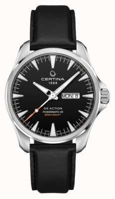 Certina | ds action day-date powermatic 80 | schwarzes Lederband | C0324301605100