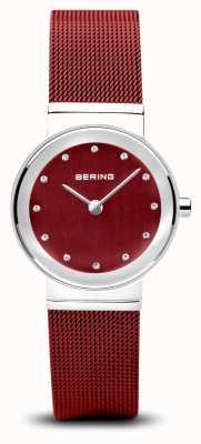 Bering Frauen | klassisch | rotes pvd stahlgeflecht armband 10126-303