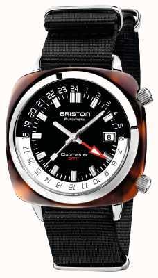 Briston Clubmaster GMT Limited Edition Auto schwarz NATO Armband 19842.SA.T.1.NB