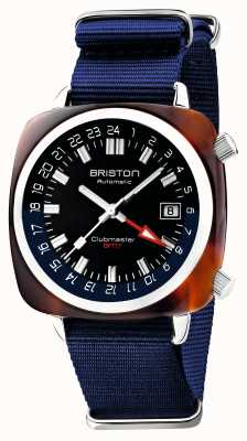 Briston Clubmaster gmt limited edition | automatisch | blaues nato band 19842.SA.T.9.NNB