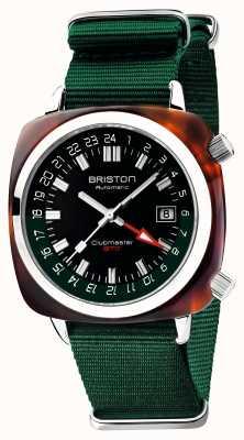 Briston Clubmaster gmt limitierte Auflage | automatisch | grünes natoband 19842.SA.T.10.NBG