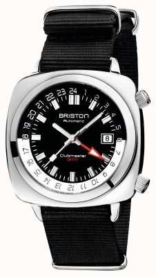 Briston Clubmaster gmt limited edition | auto | schwarzes nato band 19842.PS.G.1.NB