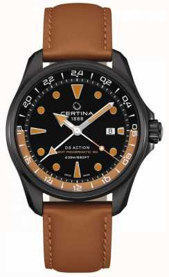 Certina | herren ds action powermatic | braunes Lederband | C0324293605100