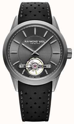 Raymond Weil Herren | Freiberufler automatische graues Zifferblatt | schwarzes Kautschukband | 2780-TIR-60001
