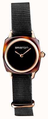 Briston   Clubmeisterin   einzelnes schwarzes NATO-Armband   Schildpatt 19924.PRA.T.1.NB- SINGLESTRAP