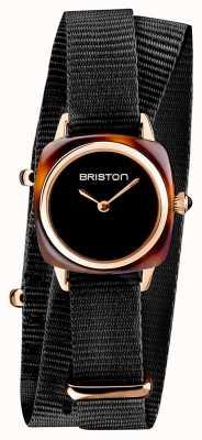 Briston | klubmeisterin dame | einzelnes schwarzes nato armband | Schildpatt 19924.PRA.T.1.NB- SINGLESTRAP