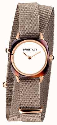 Briston | klubmeisterin dame | einzelnes taupe nato armband | roségold pvd 19924.PRA.T.2.NT - SINGLESTRAP