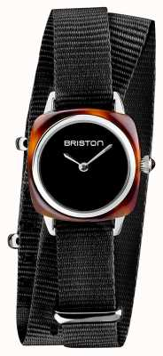 Briston | klubmeisterin dame | einzelne schwarze nato | Schildkrötenacetat | 19924.SA.T.1.NB - SINGLESTRAP