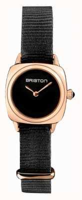 Briston | Clubmeisterin | einzelne schwarze nato | PVD-Gehäuse aus Roségold | 19924.SPRG.M.1.NB - SINGLESTRAP