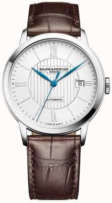 Baume & Mercier | Mens Classima | automatisch | braunes Leder | silbernes Zifferblatt | BM0A10214