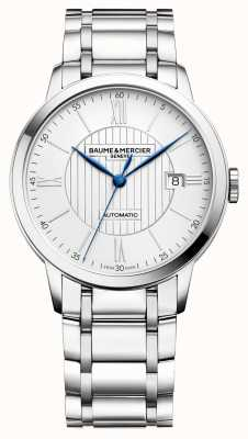 Baume & Mercier | Mens Classima | automatisch | Edelstahl | silbernes Zifferblatt BM0A10215