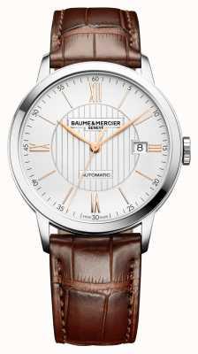 Baume & Mercier | Mens Classima | automatisch | braunes Leder | silbernes Zifferblatt | BM0A10263