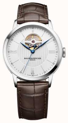 Baume & Mercier | Mens Classima | braunes Leder | silbernes Zifferblatt | automatisch | BM0A10274