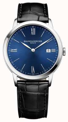 Baume & Mercier | Mens Classima | schwarzes Lederband | blaues Zifferblatt | BM0A10324