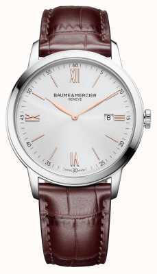 Baume & Mercier | Mens Classima | hellbraunes Leder | silbernes Zifferblatt | BM0A10415