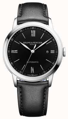 Baume & Mercier | Mens Classima | automatisch | schwarzes Leder | schwarzes Zifferblatt | BM0A10453