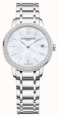 Baume & Mercier | Frauen classima | Diamant Lünette | Armband aus Edelstahl M0A10478