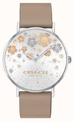 Coach | perry | steinernes Lederband | floral glitter zifferblatt | 14503326
