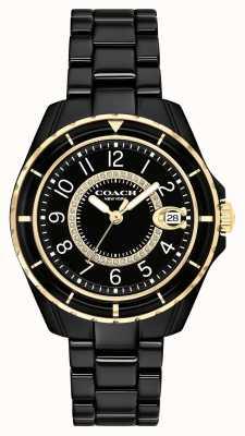 Coach | Frauen | Preston | schwarzes keramik armband | schwarzes Zifferblatt | 14503461