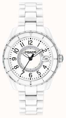 Coach | Frauen | Preston | weißes keramik armband | weißes Zifferblatt | 14503462