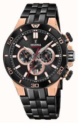 Festina Chrono Bike 2019 Sonderedition | schwarzes ip armband F20451/1