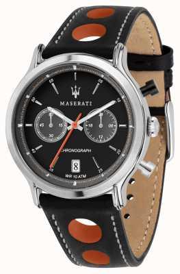 Maserati | epoca racing 42mm | schwarzes Lederband | schwarzes Zifferblatt | R8851138003