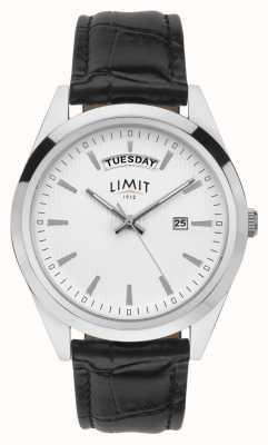 Limit | Herren schwarzes Leder | silbernes Zifferblatt | silbernes Gehäuse | 5749.01