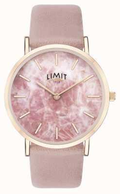 Limit | geheimer Garten der Frauen | rosa Lederband | rosa zifferblatt | 60050.73