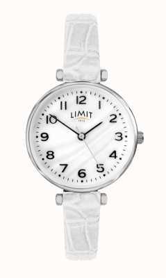 Limit | weißes lederband für damen | Perlmutt Zifferblatt | 60061.01