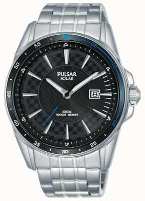 Pulsar | Beschleunigersport | Edelstahlarmband | schwarzes Zifferblatt PX3203X1