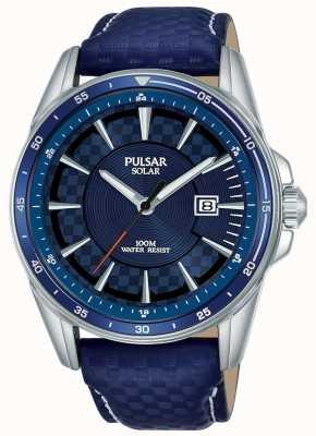 Pulsar | Beschleunigersport | blaues Lederband | blaues Zifferblatt | PX3205X1