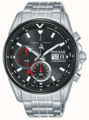 Pulsar | Beschleuniger - Chronograph Edelstahl | schwarzes Zifferblatt | PZ6027X1
