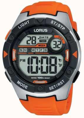 Lorus | herren sport digital | orangefarbenes Kautschukband | R2303NX9