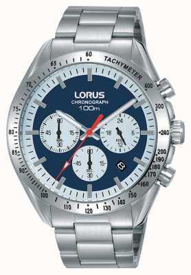Lorus   herren chronograph   Edelstahlarmband   blaues Zifferblatt   RT339HX9