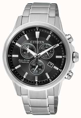 Citizen | herren eco-drive titan wr100 | schwarz / graues Zifferblatt | AT2341-88E