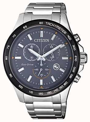 Citizen | Herren-Eco-Drive-Chronograph | Edelstahlarmband | AT2424-82H