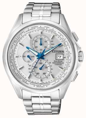 Citizen | Herren Eco-Drive Weltchronograph bei | Titan Armband | AT8130-56A