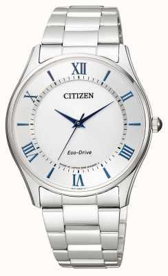 Citizen | Herren Eco-Drive | Edelstahlarmband | silbernes Zifferblatt | BJ6480-51B