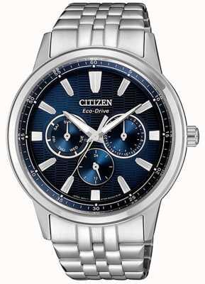 Citizen | Herren Eco-Drive | Edelstahlarmband | blaues Zifferblatt | BU2071-87L