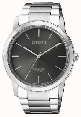Citizen | herren eco-drive titan wr50 | graues Zifferblatt | AW2020-82H