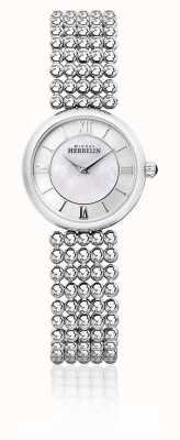 Michel Herbelin | Frauen Perle | silbernes Armband | Perlmutt Zifferblatt | 17483/B19