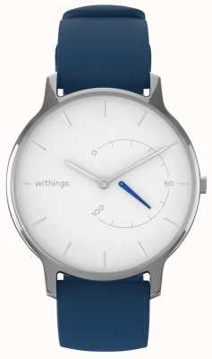 Withings Bewegen Sie zeitlos schick - weißes, blaues Silikon HWA06M-TIMELESS CHIC-MODEL 2-RET-INT
