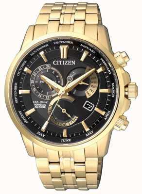 Citizen | Herren Eco-Drive Kaliber 8700 | schwarzes Zifferblatt | Goldton | BL8142-84E