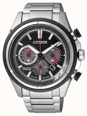 Citizen | Herren Eco-Drive | Titan Armband | schwarzes Zifferblatt | CA4241-55E