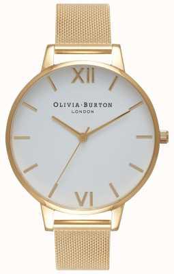 Olivia Burton | Frauen | weißes Zifferblatt | goldgeflecht armband | OB15BD84
