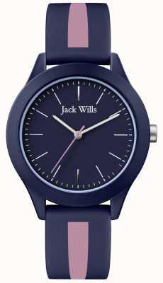 Jack Wills | herren gewerkschaft | Marinezifferblatt | pink / navy silikonband | JW009BLPST