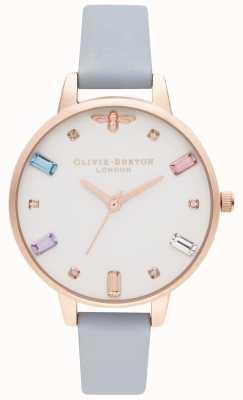 Olivia Burton | Frauen | Regenbogenbiene | Halbkreide blaues Armband | OB16RB12