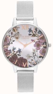 Olivia Burton | Frauen | britische blüte Edelstahlgewebe Armband | OB16EG133