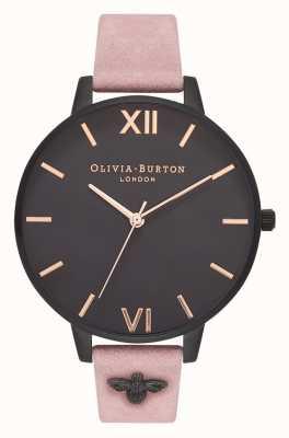 Olivia Burton   Frauen   3d biene   verziertes Armband aus rosafarbenem Wildleder   OB16ES09
