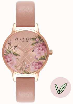 Olivia Burton | Frauen | floral zifferblatt | veganes Rosensandband | OB16VE02